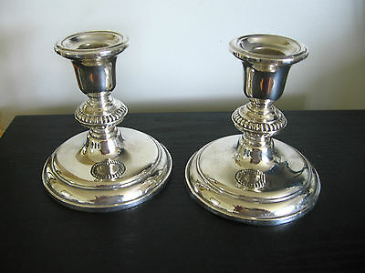 Pair of Birks Sterling Silver Candlesticks