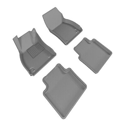 L1BC00211509 3D MAXpider Front Row Custom Fit All-Weather Floor Mat for Select Buick LaCrosse Models Black Kagu Rubber