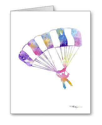 SKYDIVER Note Cards With Envelopes