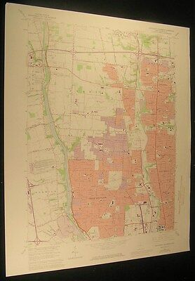 Northwest Columbus Ohio Worthington 1974 vintage USGS original Topo chart map