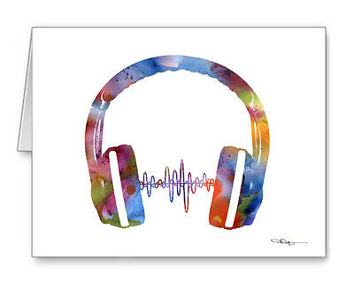 HEADPHONES Note Cards With Envelopes