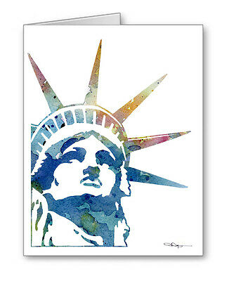 STATUE OF LIBERTY Note Cards With Envelopess