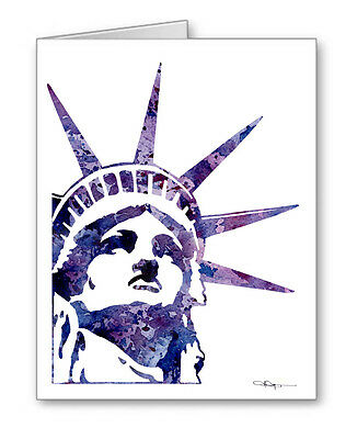 STATUE OF LIBERTY Note Cards With Envelopes