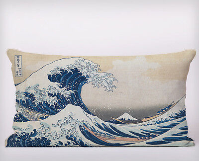 The Great Wave Long Cushion Covers Pillow Cases Home Decor or Inner