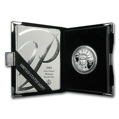 1 oz Proof Platinum American Eagle Coin - Random Year - Box and Certificate