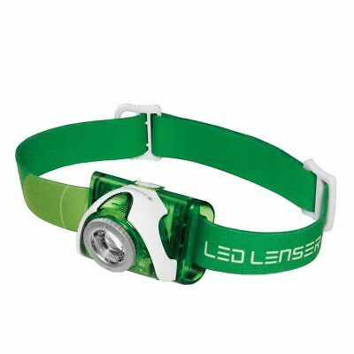 New LED LENSER SEO 3 Head Torch Headlamp SEO3 - Green 100 Lumens