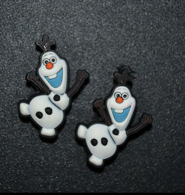 2pc Frozens Olaf Jibbitz Charms fit Wristbands, shoe lace adapters & crocs set#5