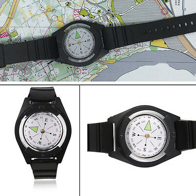 NEW Tactical Wrist Compasses Military Outdoor Survival Strap Band Bracelet OE