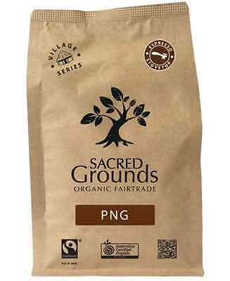 Sacred Grounds Organic Fairtrade Coffee PNG Blend (Espresso) 250g