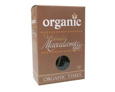 Organic Times Dark Chocolate & Macadamia Nuts 150g