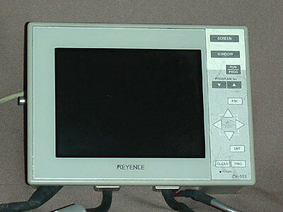 Keyence CV-551 Image Sensor Controller Interface Display Panel