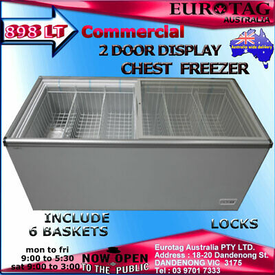 EUROTAG750LT SLIDING DOOR CHEST FREEZER RRP$2499.00 Model:EU-750 BRAND NEW
