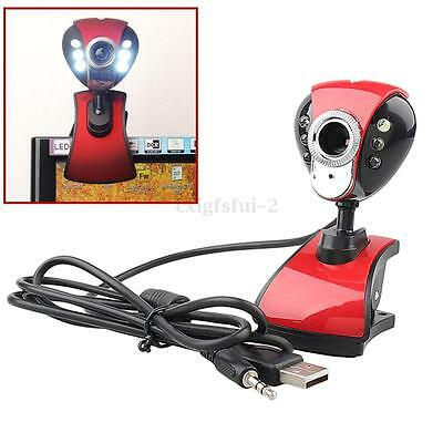 6 LED USB 50 Megapixel Digital HD Webcam with Microphone for PC Laptop Skype UK