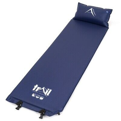Single Self Inflating Camping Roll Mat With Inflatable Pillow Sleeping Mattress
