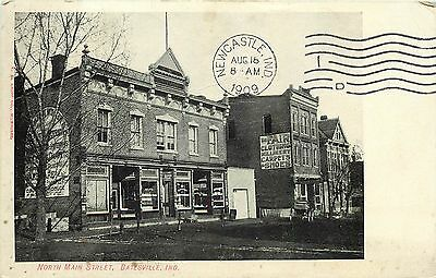 Batesville, IN Indiana NORTH MAIN STREET Store Fronts 1909 Postcard