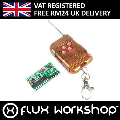 IC2262/2272 433Mhz 4 Channel Remote Control Receiver Kit Arduino Flux Workshop