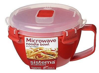 Sistema Microwave Noodle Bowl 940 ml - Red Red, Transparent One Size Sistema