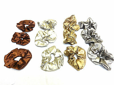 Wholesale Job Lot Luxury Brown Scrunchies Brand New Silk Feel (Uw8)