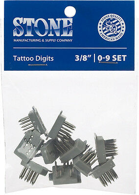 "No. Set 0 - 9 (3/8"") Livestock Tattoo Digits"