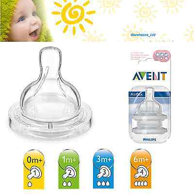 PHILIPS AVENT TEATS TWIN FEEDING TEATS VARIOUS MODELS Classic+ Natural Flow