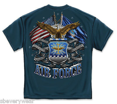 Us Air Force Flag Bald Eagle T Shirt Military Usaf American Flag Mens Tee S-3Xl