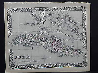 1874 Mitchell's New General Atlas Cuba R7#26