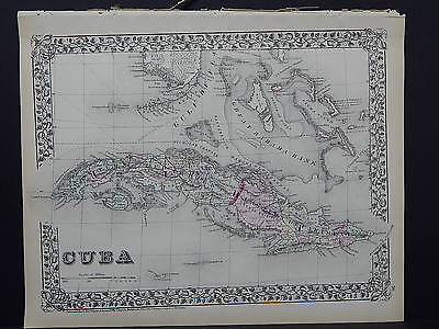 1874 Mitchell's New General Atlas, Cuba S7
