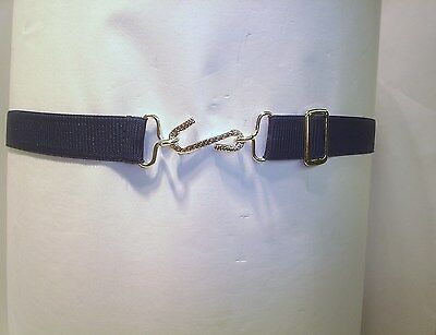 Belts Elasticated  Snake Belts  Adults Colour  Navy Blue Trendy Sports Work