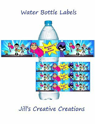 Teen Titans To Go Water Bottle Labels, Teen Titans, Water Bottle Labels