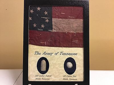 The Army of Tennessee Two Piece Bullet and Flag Set with COA