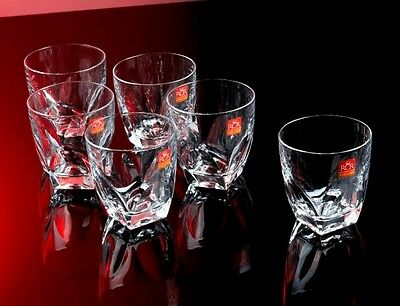 Whiskey Vodka Tequila Glasses Tumblers Set of 6 Shot Party Crystal Wine Drink