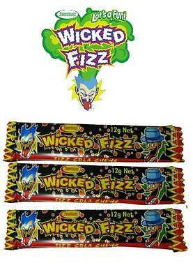 Bulk Lollies 30 x Cola Wicked Fizz Chews Party Favour Sweets Party Favor Candy