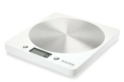 Salter 1036 Slim Design Electronic Platform Kitchen Scale - White Salter