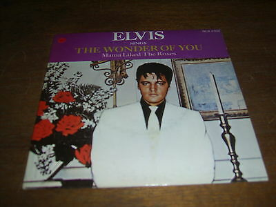 """""""elvis Presley 45 Tours Canada The Wonder Of You"""
