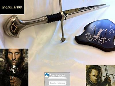 Lord of the rings Sword - Elendil/Aragorn Anduril Sword with Wall Plaque