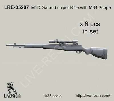 Live Resin 1:35 M1D Garand Sniper Rifle with M84 Scope - Resin Detail #LRE35207