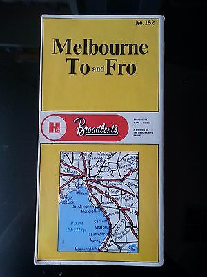 Vintage Broadbents No 182 Melbourne To and Fro Fold Out Road Touring Map