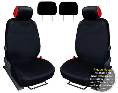 2x T-SHIRT CAR FRONT SEAT COVER PROTECTOR BLACK For VW  GOLF MK7