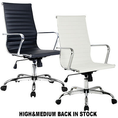 Modern Ergonomic Office Chair PU Leather High&Med Back Executive Computer Desk