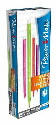 Paper Mate Assorted Neon Non-Stop Mechanical Pencils 0.7mm HB 12 Pack 01445