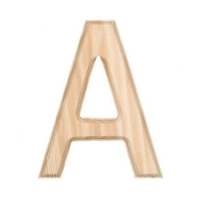 """6"""" Blank Unfinished Wooden Letter A"""