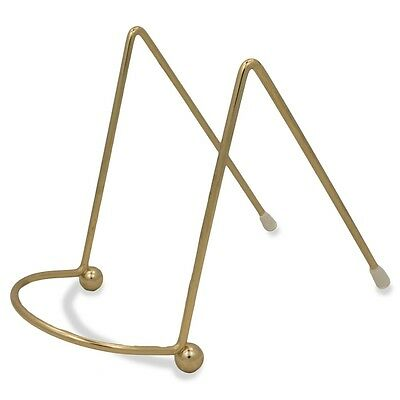 "4"" Gold Tone Metal Easel Stand Display Holder"