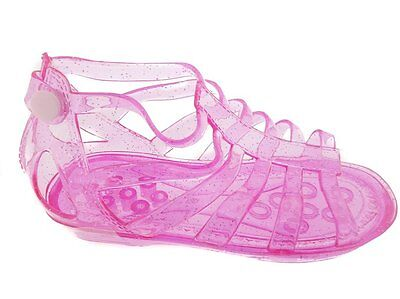 Wholesale Lot New 72 Pairs Girls Glitter Jelly Gladiators With Back Snap Closure