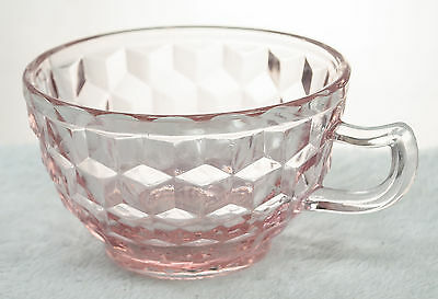 Pink Cube Cubist Cup Jeannette Depression Glass