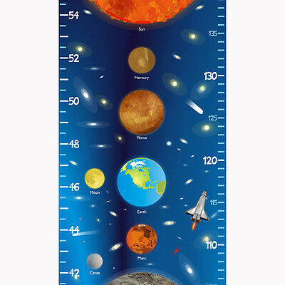 Solar System Planets growth / height chart - removable wall decal - babygraphics