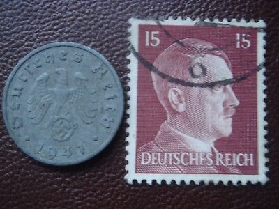 Rare Old WWII Antique Germany 1941 A 3rd Reich SS Nazi Eagle 5 pfenning  Coin