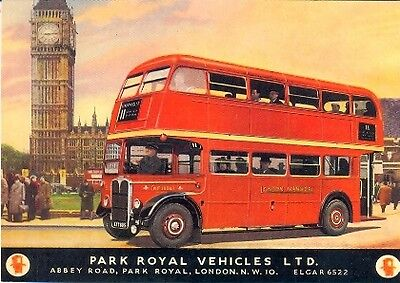London Transport RT Bus 1948 Routemaster - Modern postcard by Vintage Ad Gallery