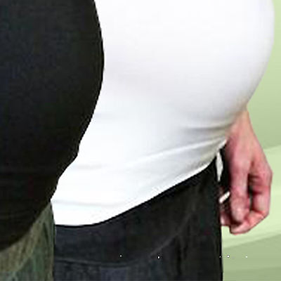 Maternity Belly Band Pregnancy Bands Support Extender 2PACK BLACK/WHITE S/M ONLY