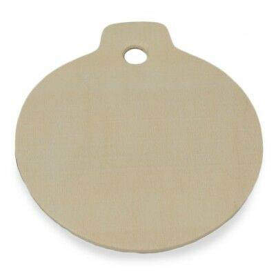 """3.25"""" Blank Unfinished Wooden Christmas Ornament Cut Out"""