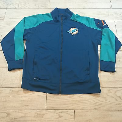 Dan Campbell Miami Dolphins NFL Game Issued Nike Dri Fit Zip Up Jacket XL